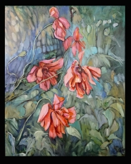 """Delta Fay's Poppies 2"" 24X30"" $756"
