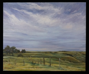 """""""Late August Twilight"""" 36X30"""" Sold"""
