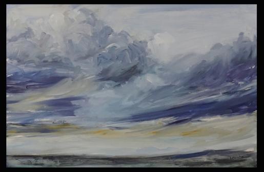 """Wild Prairie Sky"" 16X24"" Oil on panel Sold"