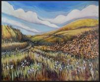 """Oban Lake Road"" 24X20"" Acrylic & mixed media on panel $616"
