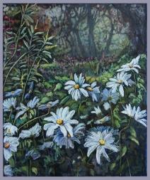 """Wonder"" 30x36"" Acrylic & mixed media on canvas SOLD"