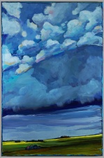 """""""Happy Little Clouds"""" 24x36"""" Acrylic on canvas Sold"""