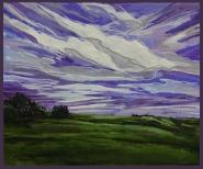 """""""Prairie Light Show"""" 12X10"""" Acrylic on canvas $310"""