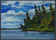 """Silver Linings"" 12x9"" Acrylic on canvas $322"