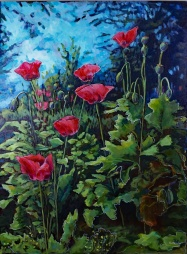 """""""Those Poppies!"""" 34X46"""" Sold"""