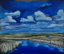 """Spring Skies"" 24X20"" Acrylic on canvas $650"