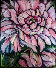 """Peony 2"" 30X36 Oil on canvas $980"