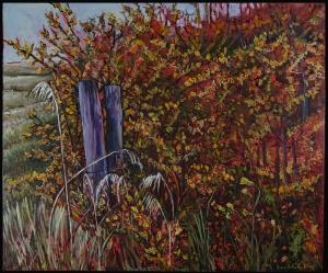 """""""Prairie Riot"""" 36X36"""" Oil on canvas $980"""
