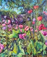 """Morning in the Garden: 20X24"" Acrylic on canvas $650"