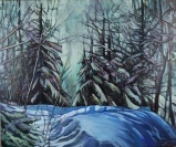 """Nistowiak Falls"" 36X30"" Acrylic & mixed media on canvas $980"