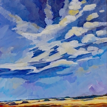 """""""Prairie Pure and Simple"""" 12X12"""" Acrylic on cradled panel $356"""
