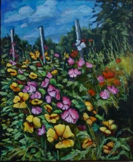 """Sweet Pea Soup"" 30X36"" Acrylic on canvas $980"
