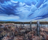 """April"" 30X36"" Acrylic on canvas $980"