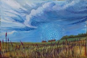 """""""Saskatchewan Summer"""" 36X24"""" Acrylic & Mixed Media on canvas $890"""