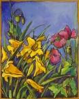 """""""My Garden"""" 8X10"""" Acrylic on canvas $250"""