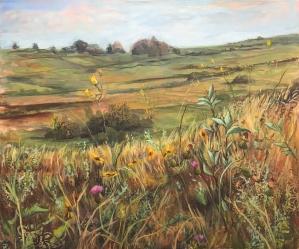 """""""Prairie Valley"""" 36X30 Acrylic on canvas $980"""