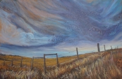 """""""Sky Song"""" 36X30"""" Acrylic on canvas $980"""