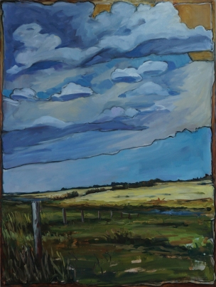 """""""After The Storm"""" 30X40"""" Oil and mixed media on panel $1,040"""