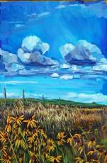 """""""Prairie Bouquet"""" 24x36"""" Acrylic on canvas $890"""