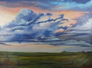 """Prairie Twilight"" 48X36"" Oil on canvas $1,246"